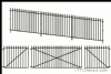 Peco LK-742 O Gauge GWR Spear Fencing - Ramps & Gates Fencing(890mm)1 Lge 2 sml Gates